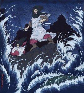 Susano'o, dios de las tormentas y el mar